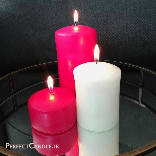 شمع استوانه محدب ست سه تایی