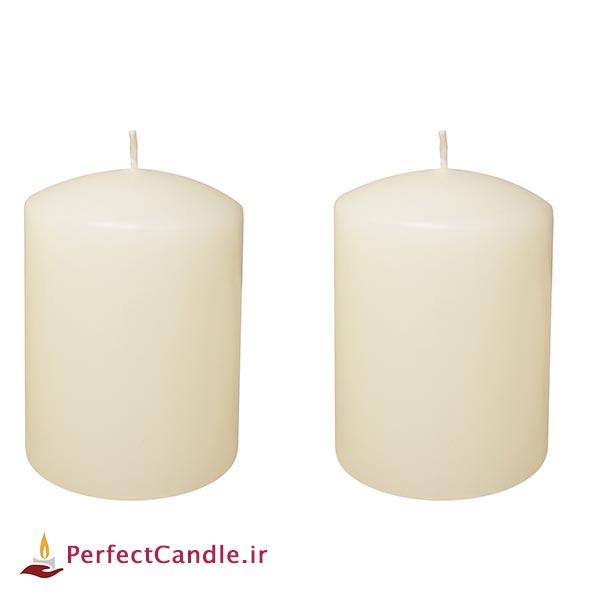 شمع استوانه محدب سفید