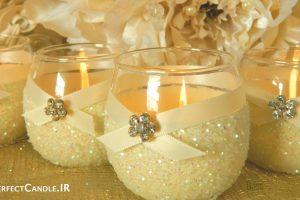 تزیین دکوراسیون اتاق خواب عروس با شمع