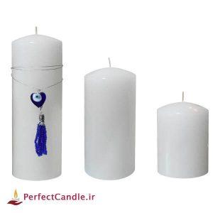 ست سفید شمع چشم نظر