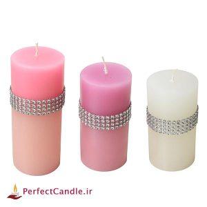 ست ۳ تایی شمع استوانه سه رنگ