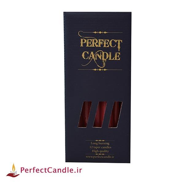 بسته شمع قلمی قرمز ۲۰ سانتی متر پرفکت