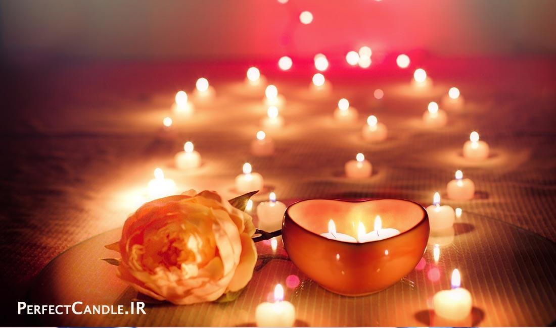 استفاده از شمع در اتاق پذیرایی