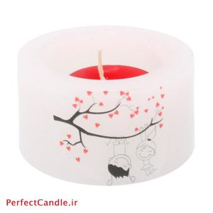 شمع فانوسی طرح عاشقانه شماره ۱