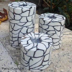 شمع کوبیسم سیاه و سفید