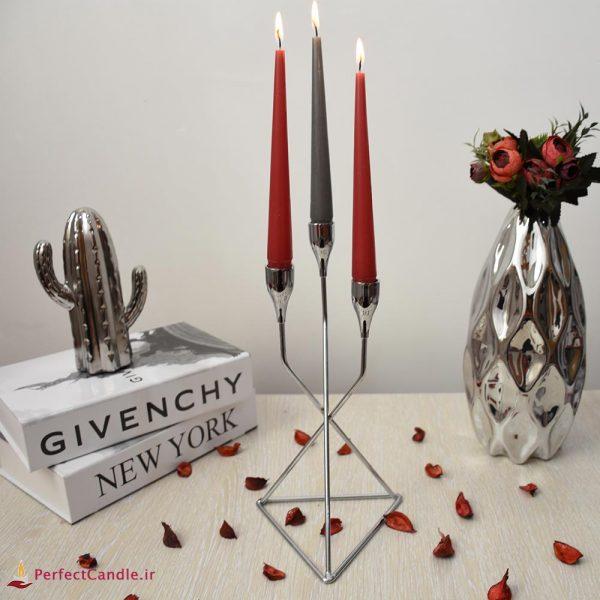 شمع قلمی قرمز ۲۰ سانتی متر پرفکت