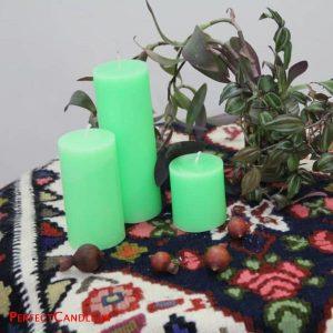 شمع استوانه ای سبز - عید نوروز