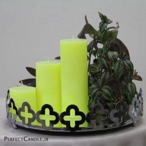 شمع استوانه ای زرد - عید نوروز