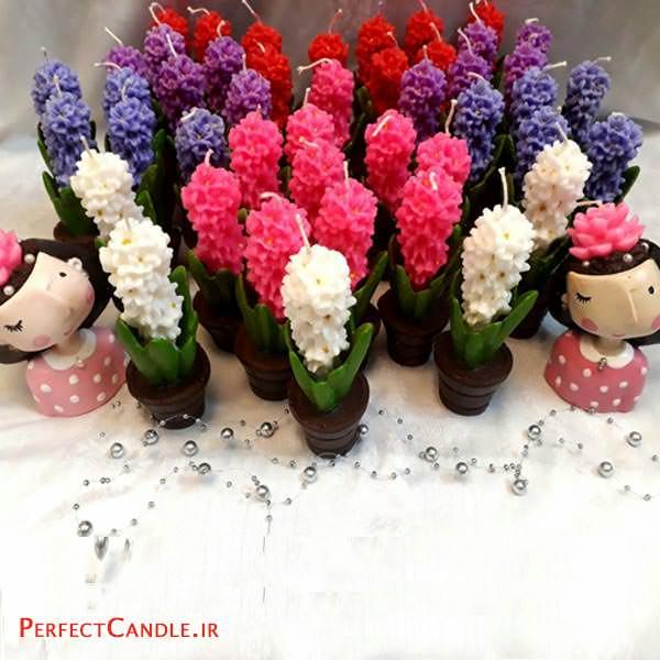 شمع عید نوروز مدل گل سنبل