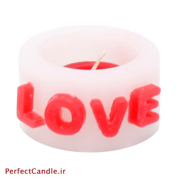 شمع فانوسی طرح Love شماره ۱