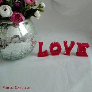 شمع استند طرح Love