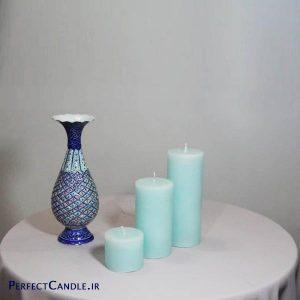 شمع استوانه ای آبی تیفانی - عید نوروز