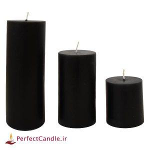 شمع استوانه ای مشکی