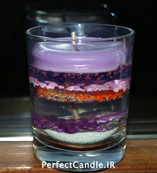 ساخت شمع با استفاده از ژل های رنگی