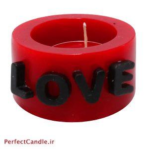 شمع فانوسی طرح Love شماره ۲