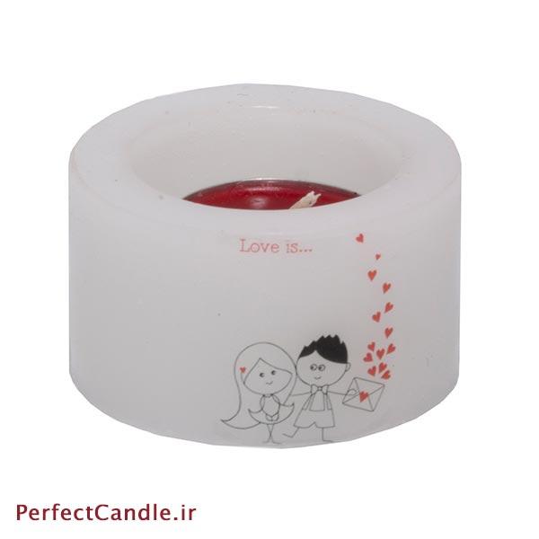 شمع فانوسی طرح عاشقانه شماره ۳