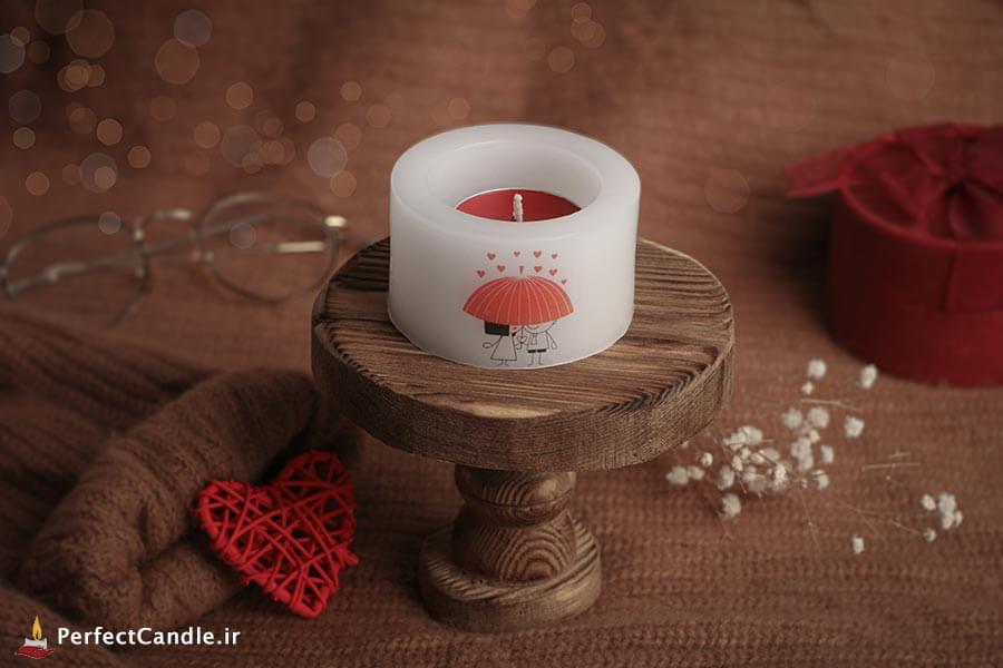 شمع فانوسی طرح عاشقانه ۴
