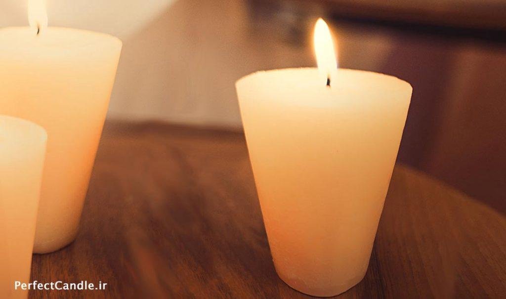 آموزش ساخت شمع مخروطی