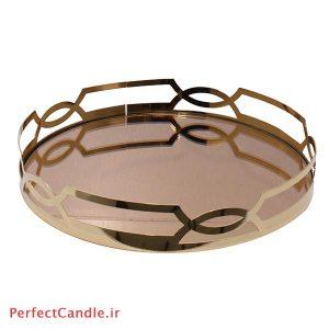 سینی آینه ای دیاموند طلایی