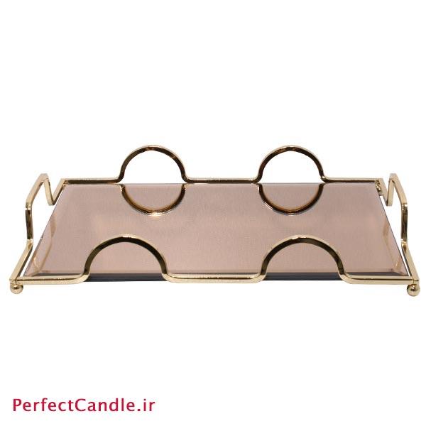 سینی آینه ای پرنسس طلایی