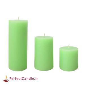 ست ۳ تایی شمع استوانه سبز