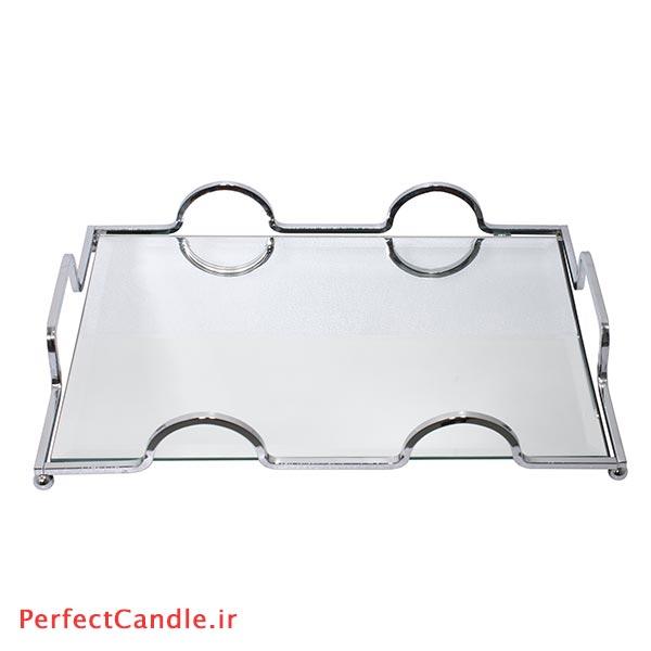 سینی آینه ای پرنسس نقره ای