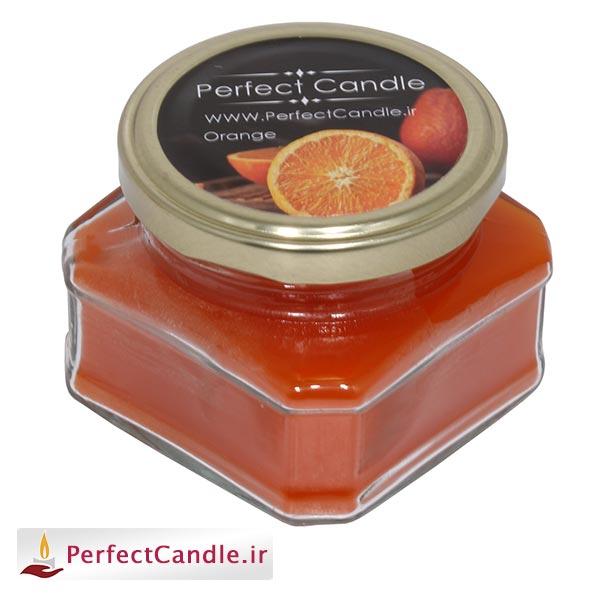خرید شمع شات - شمع جار آکواریوم پرتقالی