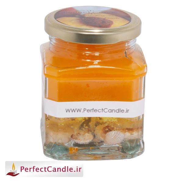 خرید شمع شات - شمع جار آکواریوم هلو