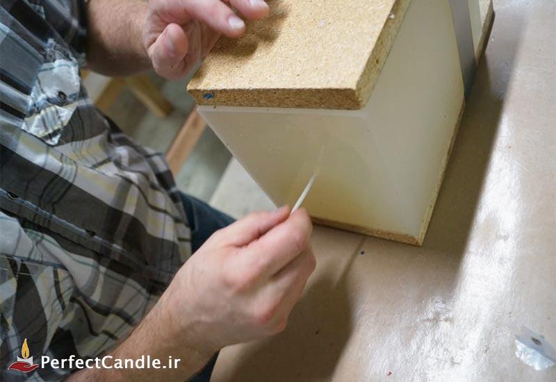 اضافه کردن فیتیله به انتهای قالب