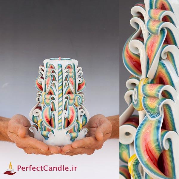 ساخت شمع های قالبی زیبا