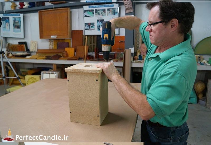 بستن قالب چوبی