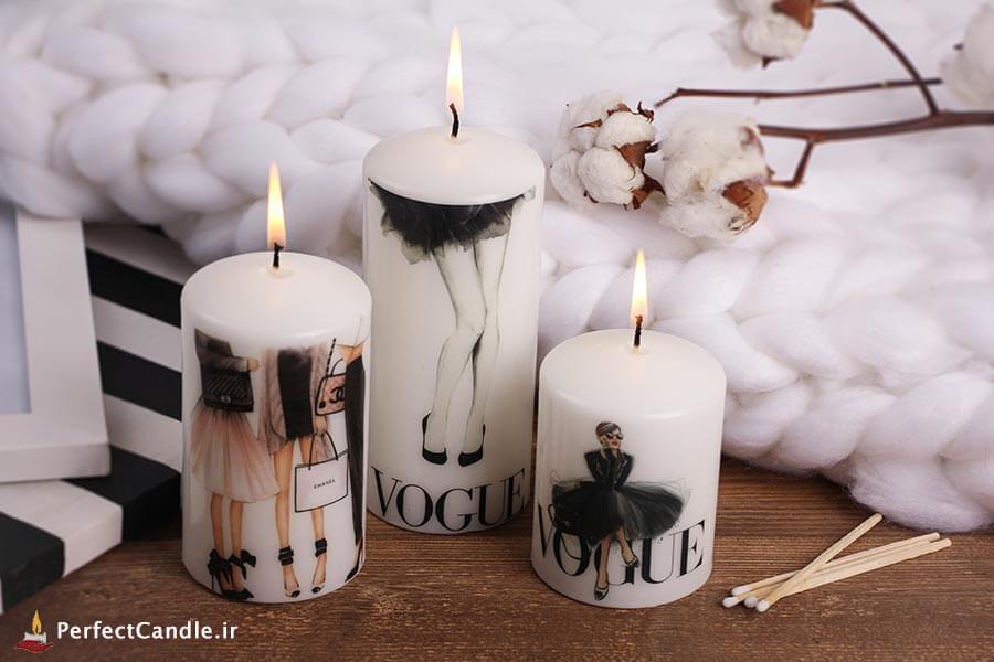 شمع محدب طرح باربی