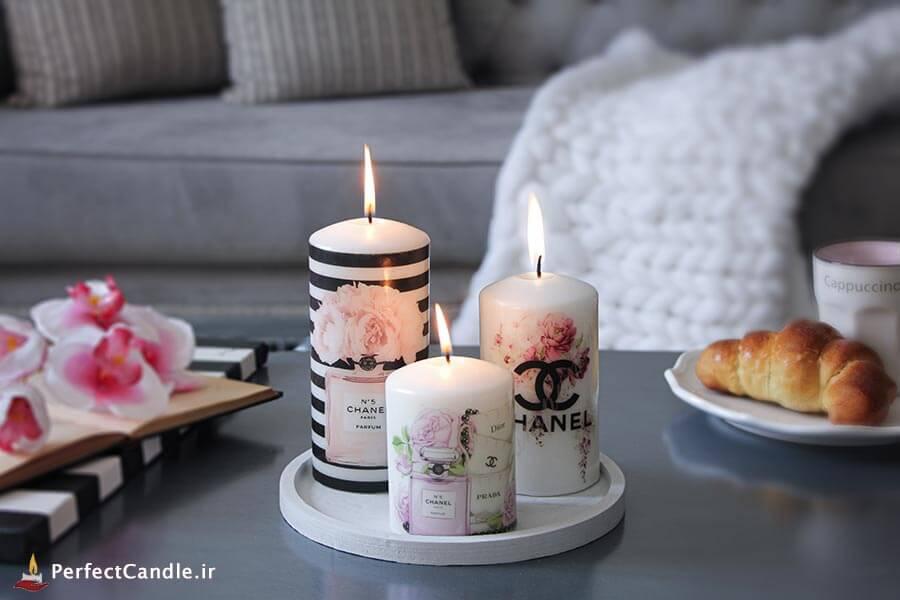 شمع محدب طرح برند چنل