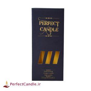بسته شمع قلمی زرد ۲۰ سانت پرفکت