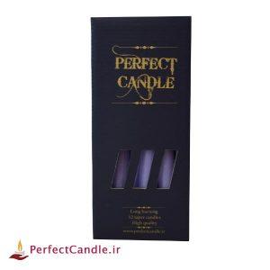 بسته شمع قلمی یاسی ۲۰ سانتی متر پرفکت