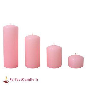 ست ۴ تایی شمع محدب صورتی