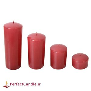 ست ۴ تایی شمع محدب قرمز