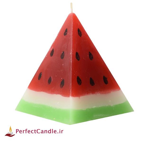 شمع هندوانه هرمی
