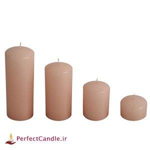 ست ۴ تایی شمع محدب عسلی