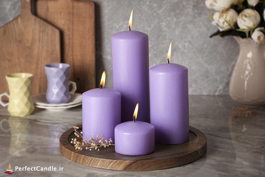 ست ۴ تایی شمع محدب یاسی