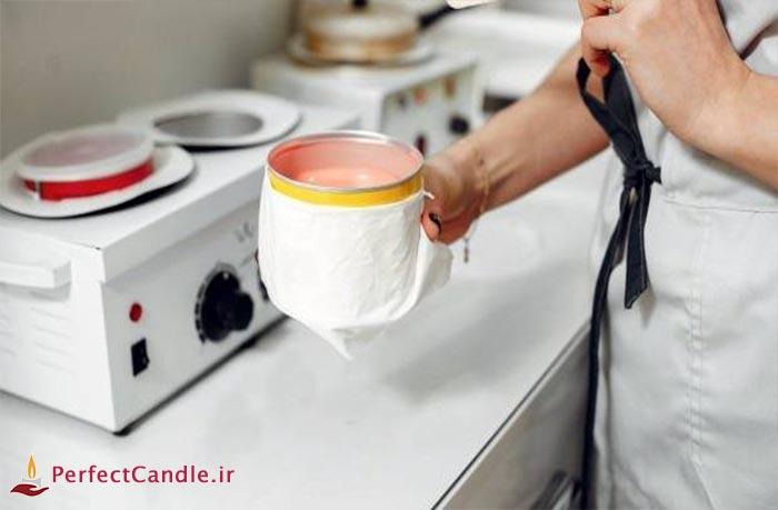 اصلاح صورت با شمع