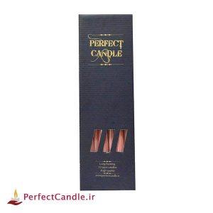 شمع قلمی صورتی ۳۰ سانتی متر پرفکت