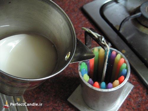 چگونه با شمع قلمی، شمع های زیبا بسازیم