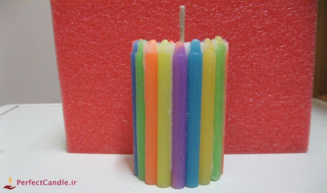چگونه با شمع قلمی، شمع رنگی بسازیم