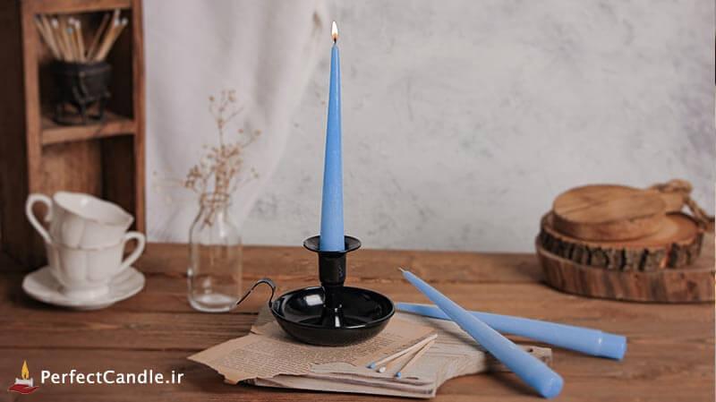 شمع قلمی آبی آسمانی ۲۰ سانتی متر