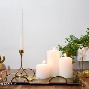 شمع قلمی سفید ۳۰ سانتی متر
