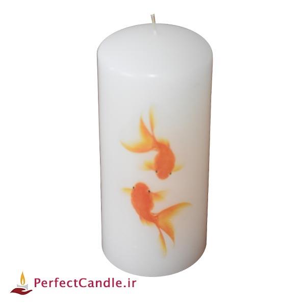 شمع استوانه ماهی قرمز