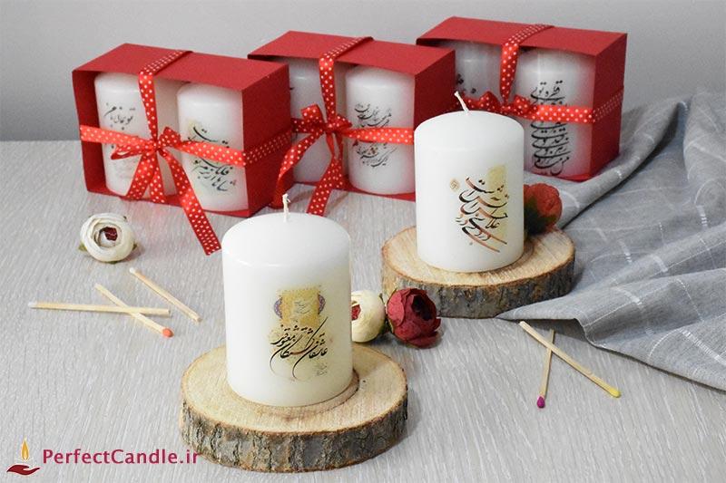 ست شمع استوانه دو تایی عاشقانه ۳