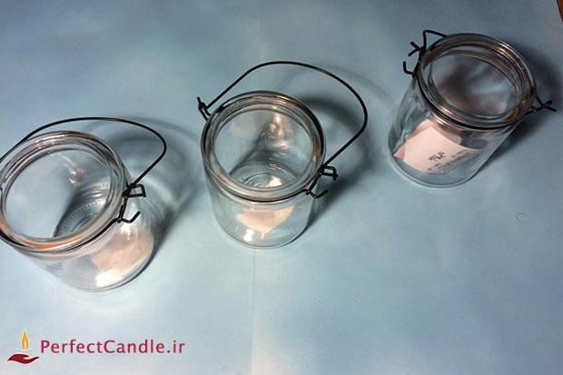 لیوان شیشه ای برای ساخت شمع شات
