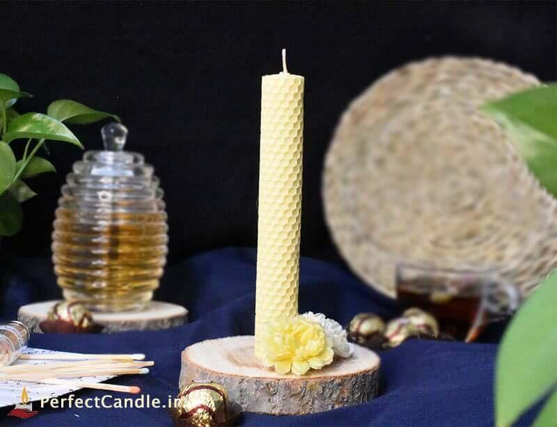شمع موم عسل زرد پاستیلی